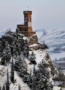 Brisighella - Torre sotto la neve