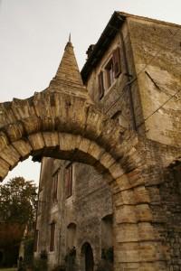 particolare dell'entrata del Castello di Sotto di Strassoldo