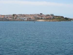 Isola di Sant'Antioco. Panorama del porto di Calasetta.