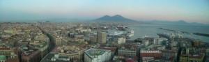 Napoli, il vesuvio e il golfo