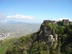 Vista del Castello di Erice