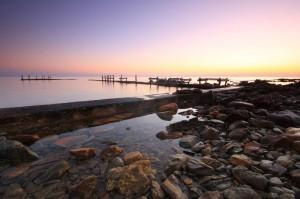 L'alba a Baia Sant'Anna
