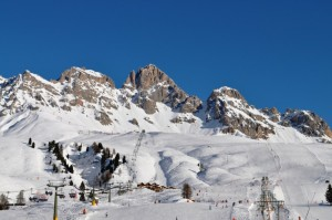 Sciare al Passo San Pellegrino