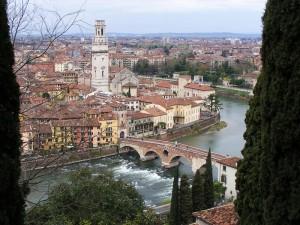Verona, panorama da Castel San Pietro 1