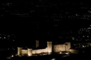 Rocca Albornoziana Spoleto di notte