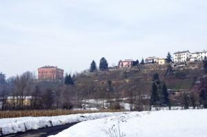Il castello e parte dell'abitato di Pasturana.