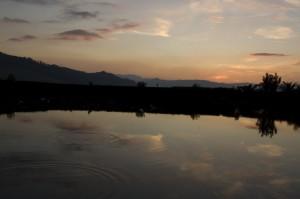 Tramonto sul lago…