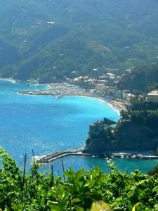 Panorama di Monterosso dal sentiero costiero