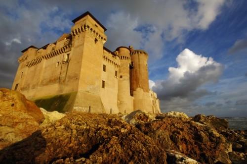 Santa Marinella - Castello Santa Severa tramonto dal mare