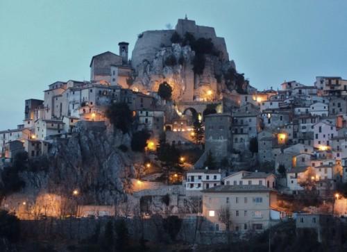 Cervara di Roma - Le luci del paese si accendono