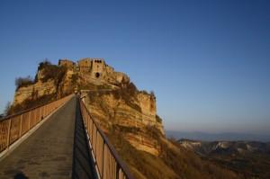 Civita di Bagnoregio, tramonto dal ponte