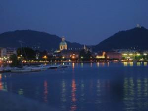 Una sera d'agosto sul lago di Como