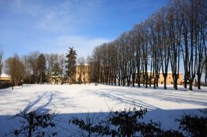 il castello con la neve