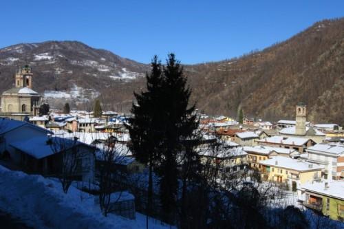 Venasca - Venasca vista dalla strada del Bricco