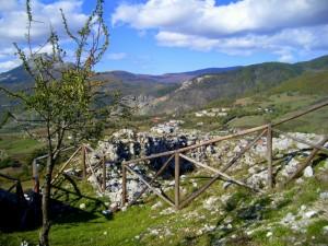 Panorama dal rudere del castello