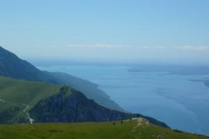 Vista del Lago di Garda dal Rifugio Altissimo - Monte Baldo