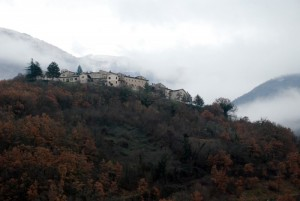 Vallo di Nera, panorama invernale