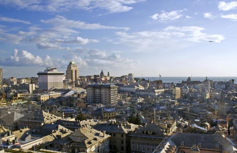 ''Zena, panorama dal castelletto'' - Genova