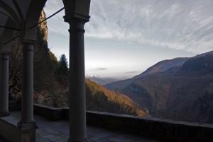 Panorama dall'eremo di Calomini