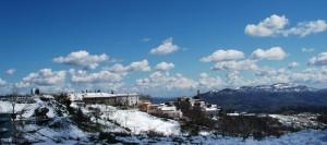 nuvole sul panorama
