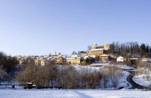 Il castello e l'abitato di Tassarolo.