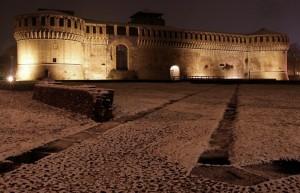 La Rocca in una fredda notte