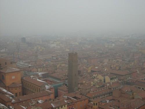 Bologna - Bologna avvolta dalla nebbia