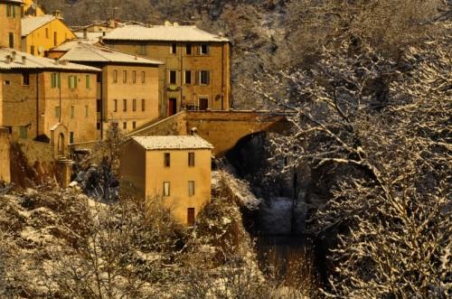 Urbania - Il Ponte Il Fiume e la Neve ad Urbania