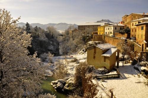 Urbania - Vista con Neve dal Ponte di Urbania