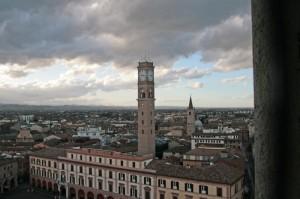 Tetti della città dal campanile