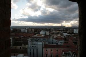 Raggi di sole sulle colline viste da S.Mercuriale