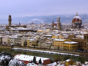 Una Firenze imbiancata