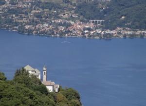 Santuario della Madonna del Sasso e il Lago d'Orta, Cusio, Piemonte