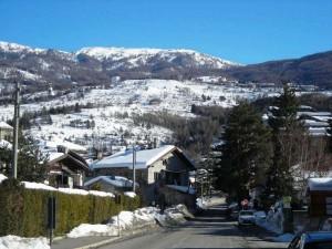 Comune di Ulzio e le sue piste da sci.