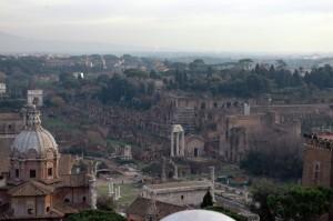 Il colle Palatino ed il foro Romano
