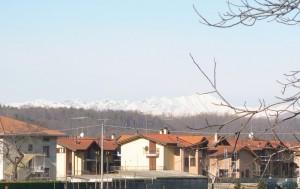 Le alpi viste da Lonate Ceppino