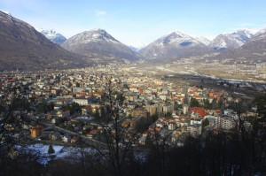 Domodossala dal suo Sacro Monte patrimonio dell'UNESCO