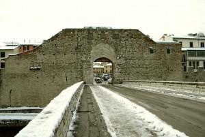 Una ghiacciata Porta Mercatale