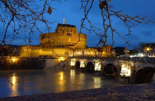 "Roma - L'""ora blu"" a Castel Sant'Angelo"