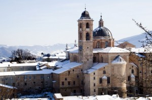Il Palazzo Ducale di Urbino e la neve
