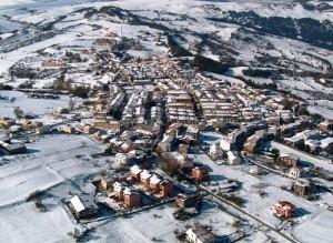 un pò di neve su Aquilonia