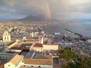 Napoli con arcobaleno da Castel S. Elmo