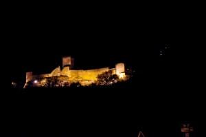 Castello di Lombardia, notturno