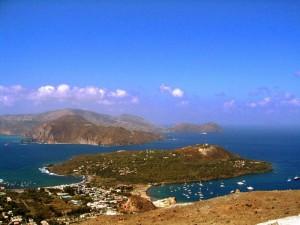 Vista dall'isola di Vulcano