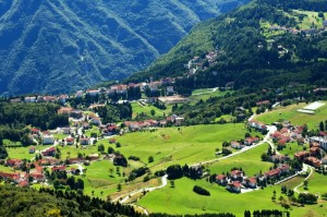 Il paese visto dal monte Spitz