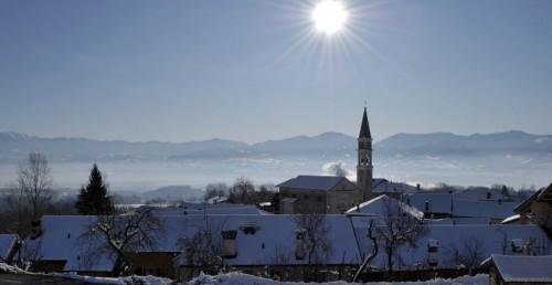 Santa Giustina - Panorami invernali ( Cergnai di Santa Giustina Bellunese)