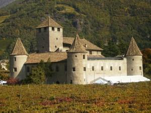 Il castello tra le vigne d'autunno…