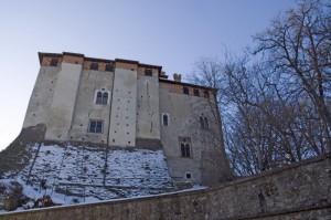 Il castello di Castelletto d'Orba, lato Nord.