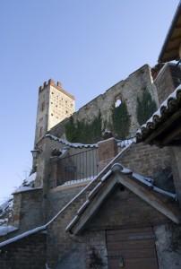 Castelletto d'Orba, la torre dell'antico castello (XI sec.).