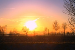Campagna Parmense al tramonto